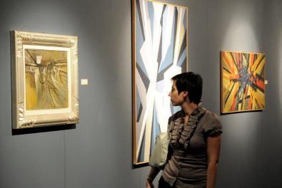 Le rotte della pittura. Sessant'anni di astrazione italiana dalla Collezione Garau, veduta della mostra, Fondazione Piaggio Pontedera (PI) Foto Courtesy Giovanna Biondi