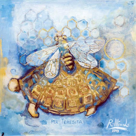 Il bozzetto di Renata Minuto per Un mosaico per Tornareccio. La città delle api e dei mosaici