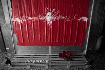 Gianluca Perna, purgatorio (rosso paradiso) - purgatorio color self-supporting, cm 220x150