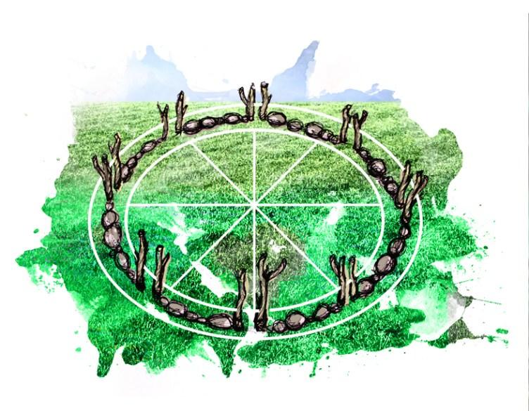 progetto di Emiliano Zucchini proposta di un ripetitore naturale, Land Art al Furlo IV edizione