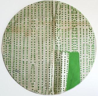 Shozo Shimamoto, Untitled, Anni '50, tecnica mista su carta, cm 45x45.2