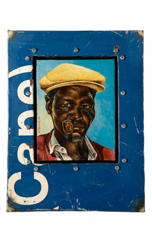 Willie Bester, Man, mixed media in metal box cm 48x35