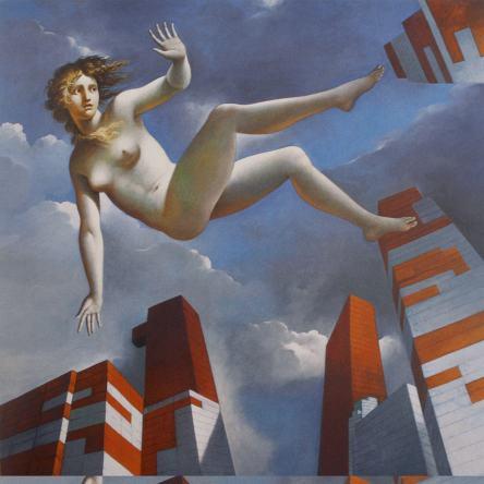 Carlo Maria Mariani, Shipwrecked, 2002, olio su tela,112x117 cm, Collezione Bulgari, Italia