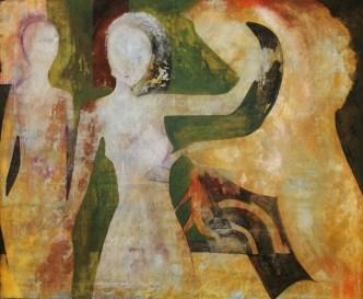 Claudio Nicolini, Ripensando al passato, 2005, acrilici su tela, cm 100x120, collezione privata