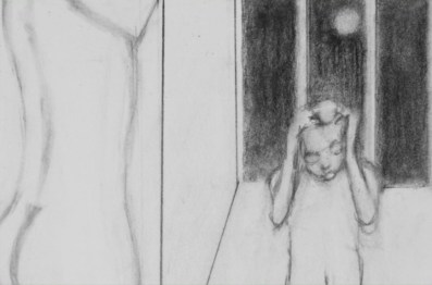 """Daniele Galliano, The man who managed to get pussy off his mind, 2012, 1.465 disegni a micromina 05mm 2b e matita gomma su carta Sholler durex, video 2'30"""", HD"""