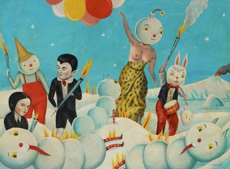 Sergio Mora, Children of the revolution, 2013, olio e acrilico su tela, cm 100x73