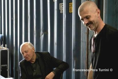 Peter Greenaway e Roberto Castello. Foto di Francesco Pera Turrini