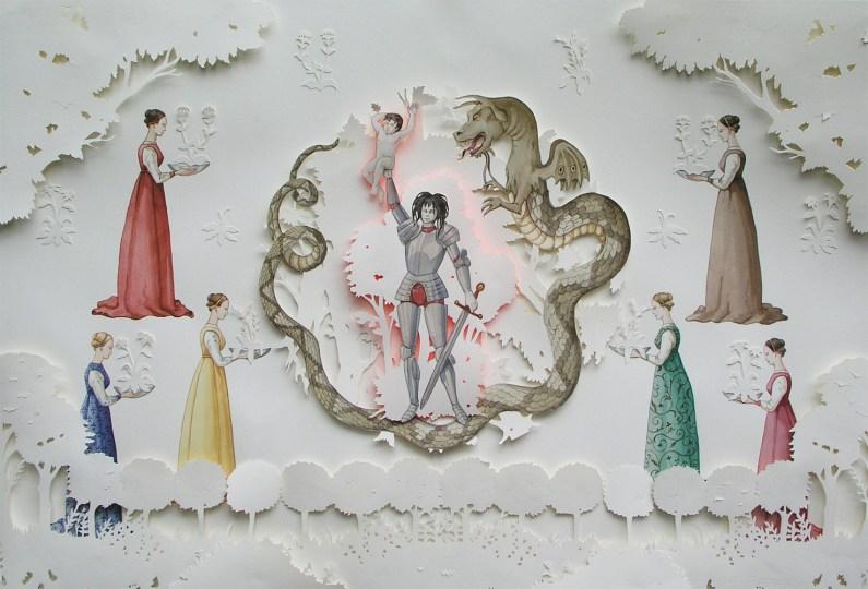 Vanni Cuoghi, Viscontea, 2012, acquerello su carta, 75x110 cm