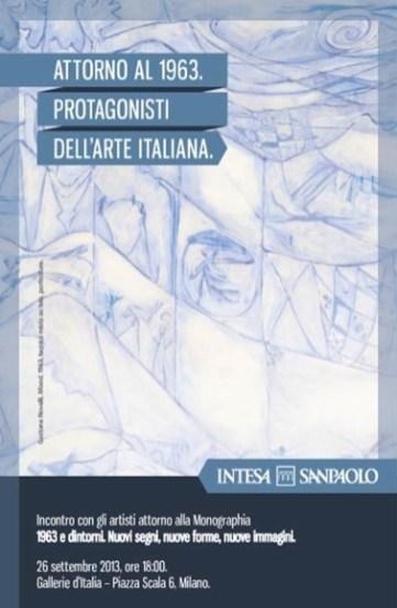 Attorno al 1963. Protagonisti dell'arte italiana, locandina dell'incontro, Gallerie d'Italia, Milano