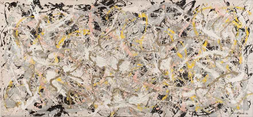 Jackson Pollock, Number 27, 1950, olio, smalto e pittura di alluminio su tela, 124.6x269.4 cm, Whitney Museum of American Art, New York © 2013 The Pollock-Krasner Foundation / Artists Rights Society (ARS), New York Foto di Sheldan C. Collins