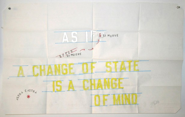 Lawrence Weiner, As If, 2006, colore e inchiostro su carta, 60x90 cm, Courtesy Galleria Giorgio Persano, Torino