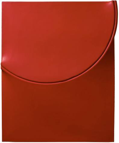 Agostino Bonalumi, Rosso (Red), 1971 Shaped canvas and vinyl tempera 100 x 81 cm Robilant+Voena, London – Milan (Photo © Manusardi ArtPhotoStudio Milan)
