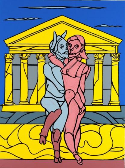 Valerio Adami, Il fauno, s.d., acrilico su tela, 147x198 cm