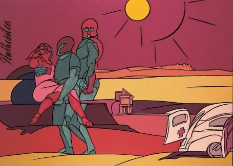Valerio Adami, Penthesilea, 1993, acrilico su tela, 195x265 cm