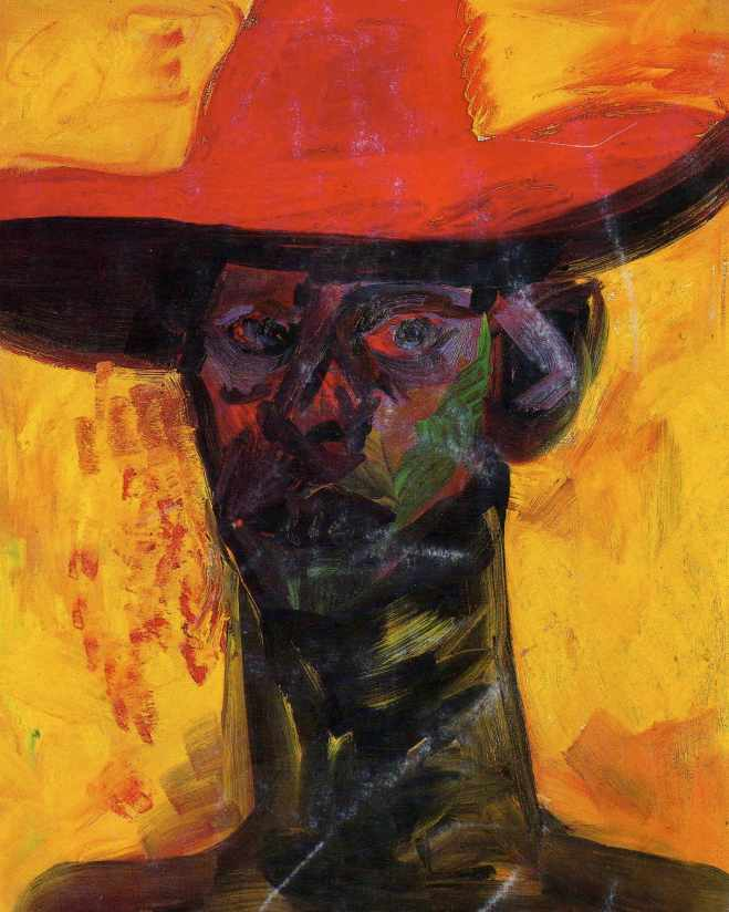 Rainer Fetting, Self With red hat, 1985