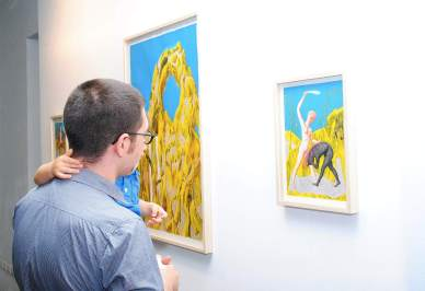 Ettore Tripodi. La Città degli Immortali, veduta della mostra, Museo d'Arte Contemporanea, Lissone (MB)