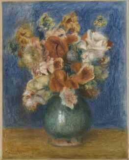 Pierre-Auguste Renoir, Bouquet, 1900, olio su tela, 40x30 cm, Musée de l'Orangerie, Parigi (RF 1963 15) © Franck Raux RMN-Réunion des Musées Nationaux / distr. Alinari