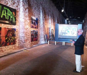Independents4: Scatolabianca, Nanni Balestrini, Tristanoil (frame del video), 2012, produzione video Giacomo Verde, programma Video Vittorio Pellegrineschi Courtesy dell'artista