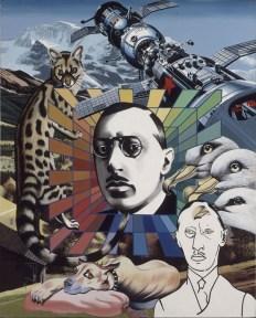 Errò, Ritratto di Stravinsky, 1974, olio e vernice su tela di lino, 162.5x131 cm (AM 1987-478) © Centre Pompidou, MNAM-CCI / Christian Bahier et Philippe Migeat / Dist. RMN-GP