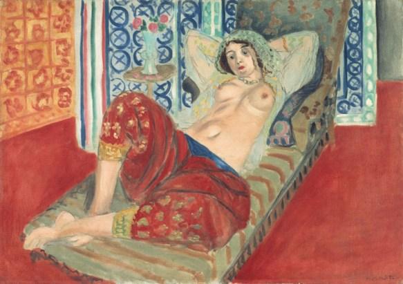 Henri Matisse, Odalisca con i pantaloni rossi, 1921, olio su tela, 65x90 cm (LUX.0.85 P) © Centre Pompidou, MNAM-CCI / Philippe Migeat / Dist. RMN-GP