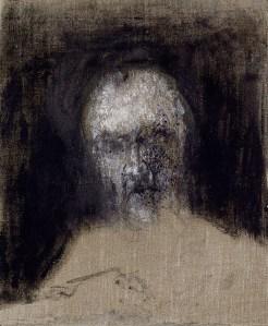 Zoran Music, Autoritratto, 1988, olio su tela, 46x38x6 cm (AM 1996-91) © Centre Pompidou, MNAM-CCI / Jacques Faujour / Dist. RMN-GP