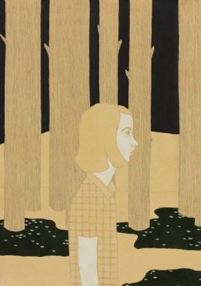 Irene Balia, Maya, 2012, acrilico e grafite su tela, 70x50 cm