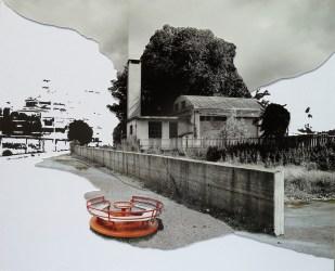 Botto e Bruno Una traccia 2012 tempera su carta e fotocollage cm 29,7x36 Courtesy Alberto Peola