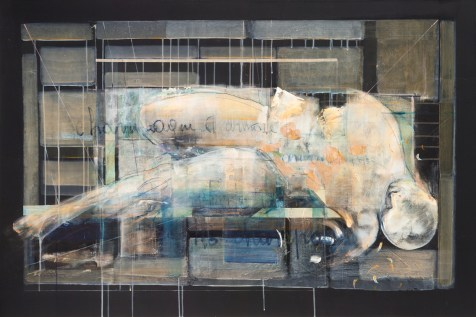 Carla Benvenuto, Champagne, 1013, tecnica mista, cm 100x150 - Studio Rossetti