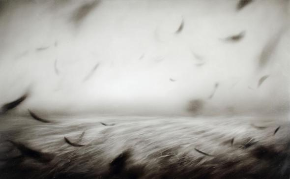 Ettore Frani, Pneuma, 2013, olio su tavola, cm 60x100 - L'Ariete artecontemporanea