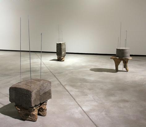 Ludovica Carbotta, Imitazione I, II, III, IV, V (veduta installazione), 2010 - 2011, 5 sculture in cemento armato, dimensioni variabili. Courtesy l'artista