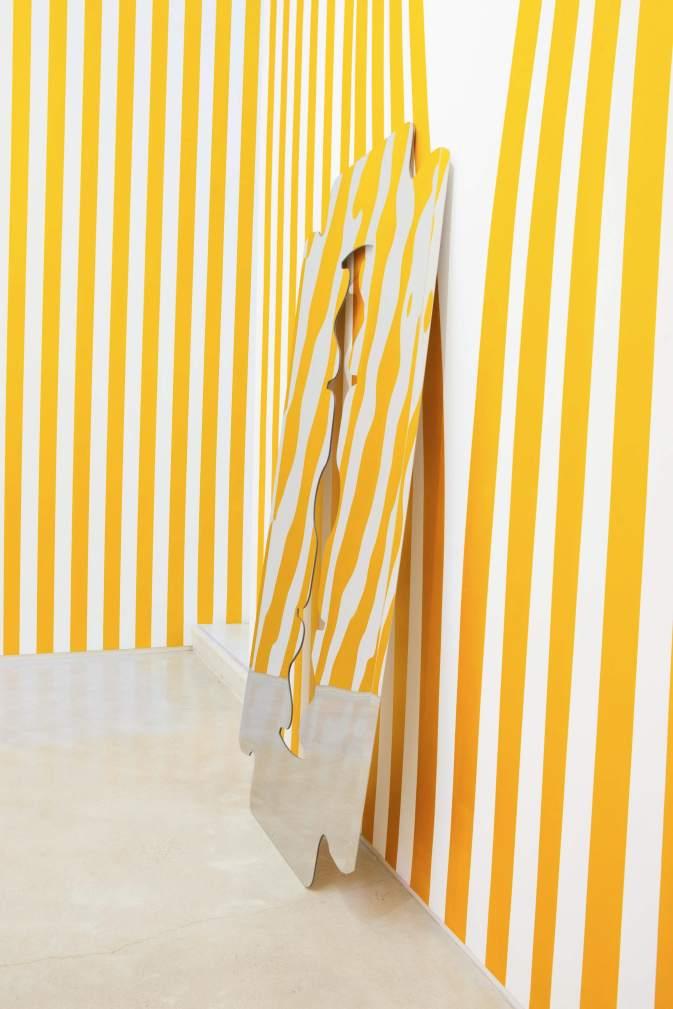 Sylvie Fleury, It Might As Well Rain Until September, installation at Salon 94, 2013, New York