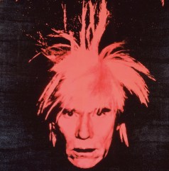 Andy Warhol, Self Portrait (red on black), 1986, Collezione Brant Foundation © The Brant Foundation, Greenwich (CT), USA © The Andy Warhol Foundation for the Visual Arts Inc. by SIAE 2013