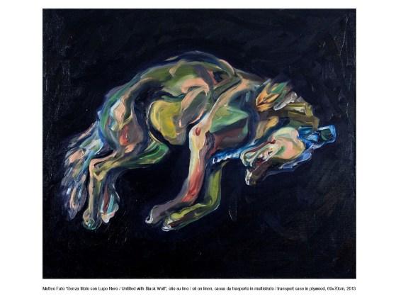 Matteo Fato, senza titolo con lupo nero, 2013