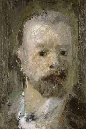 Filippo Franzoni, Autoritratto, 1900-1905, olio su tela, 38x25.5 cm, Collezione Città di Lugano Deposito della Fondazione Gottfried Keller, Lugano Cat. 163