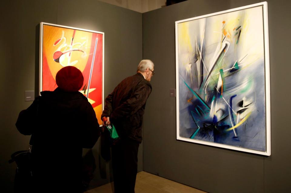 Atomo luce energia, veduta della mostra, Sala panoramica, Castello Sforzesco, Milano 15 gennaio-31 marzo 2013