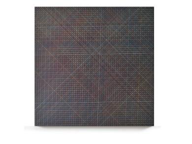 Tamás Jovánovics, '1cm Series - Őszi éjjel izzik a galagonya', 2013, acrylic and color pencil on MDF board, varnished, 60x60 cm