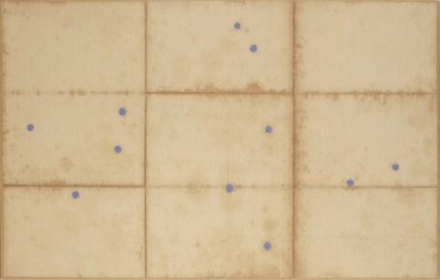 James Brown, Untitled, 2003, olio su mappa