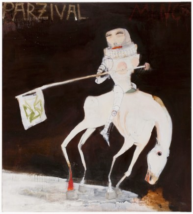 Kinki Texas, Parzival Minor, 2013, tecnica mista su tela