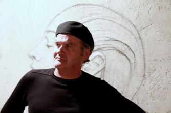 Omar Galliani davanti a Matilde, 2012