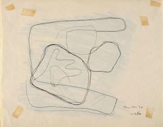 Lucio Fontana, Studio per Tavoletta graffita, 1930, inchiostro nero e matita su carta, 22x28 cm (30 DA 5)