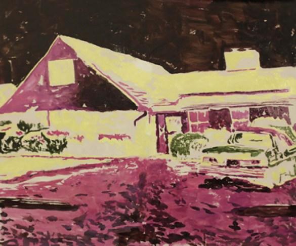 Ryan Mendoza, Helen Street-Detroit- Michigan-85x110 cm-olio su lino-2013