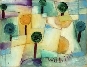Paul Klee, Wohin? Junger Garten, 1920, olio su carta incollato su cartone, 23.5x29.5 cm