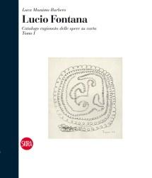 Lucio Fontana, La ruota nell'antro, 1938, china nera su carta, 28.4x22.5 cm (38 DTA 10), copertina tomo I