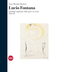 Lucio Fontana, Ambiente spaziale per la IX Triennale di Milano, 1951, china gialla e nera su carta, 29x23 cm (51 DAS 57), copertina tomo II