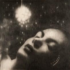 Omar Galliani, Liberate gli angeli, matita su tavola, cm. 100x100