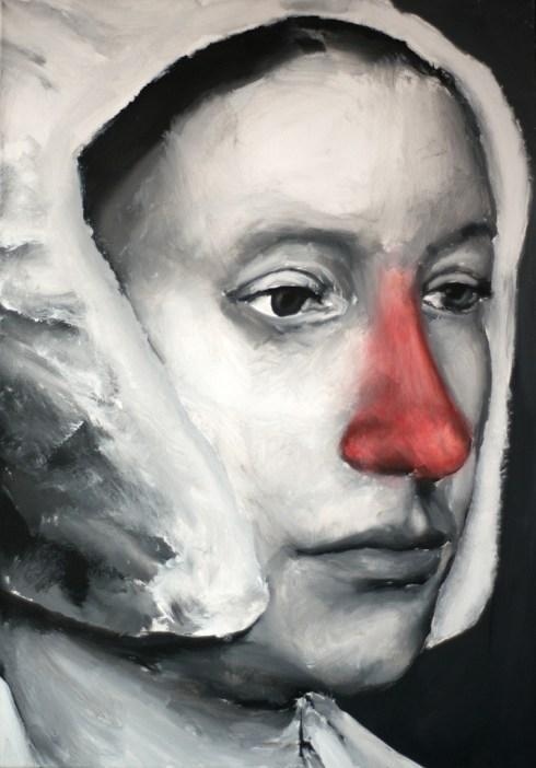 SANTIAGO YDANEZ - Senza titolo, acrilico su tela, 100x80cm, 2009