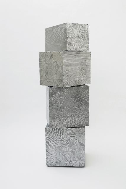 Andrea Salvetti, TRONCHI 5543, 2011, fusione di allumino naturale, cm 165x68x68, pezzo unico