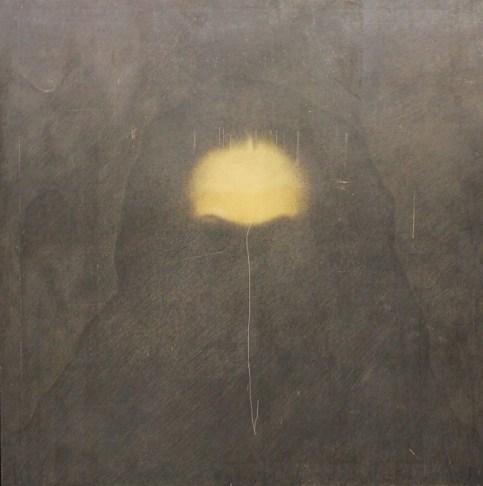 Omar Galliani, disegno, 1990, grafite su tavola, 180x180