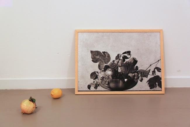 Variazione su Canestra di Frutta n.4, stampa su carta cotone montata su alluminio 43 x 65 cm, 2011_ 2013