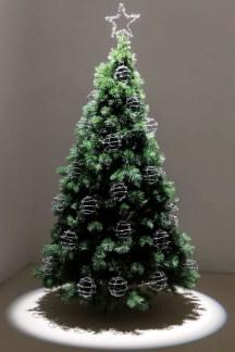 here and now, 2013, Christmas tree, ball of barbed wire, cm 210 x 100 x 100 Courtesy Galleria Umberto Di Marino, Napoli, Italy foto Renato Ghiazza